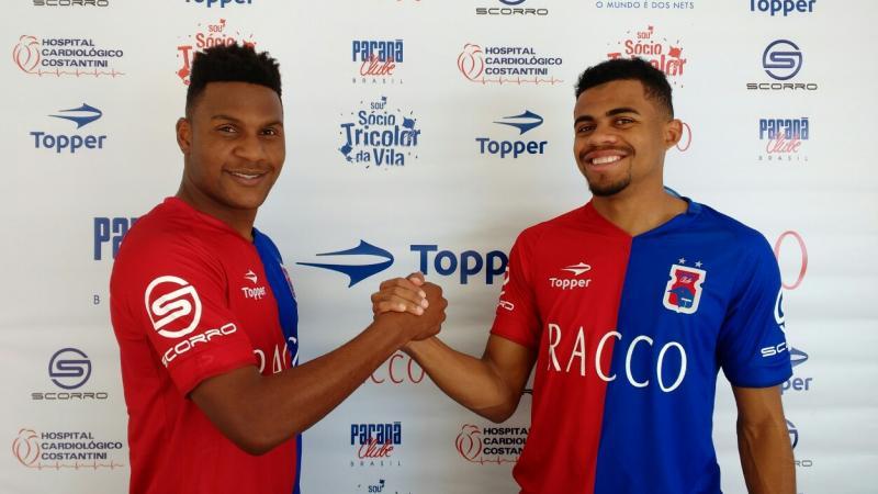 Wellington Reis e Lucas Taylor assinam com o Paraná Clube